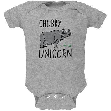 Rhino Chubby Unicorn Doodle Soft Baby One Piece