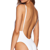 MINIMALE ANIMALE The Sea Salt Swimsuit in White