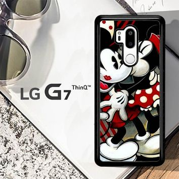 Hugs And Kisses  Mickey Minnie Mouse Z1557 LG G7 ThinQ Case