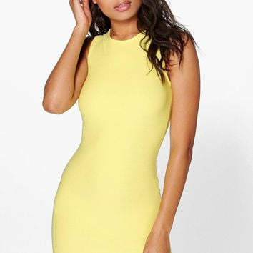 Maia Lazer Cut Hem Detail Bodycon Dress