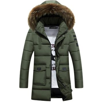 Thick Down Jacket New Long Winter Down & Parkas Warm Fashion Business 90% White Duck Down Jackets And Coats Brand Clothing X574