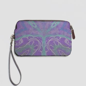 Violetto leather clutch