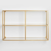 Adler Glass Wall Shelf