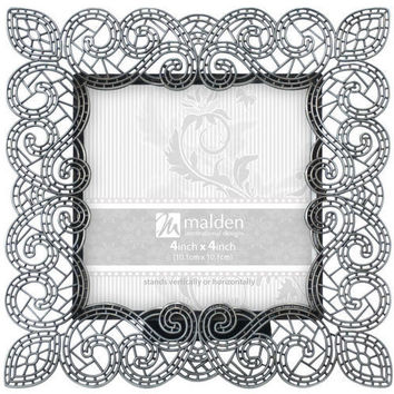 Malden Sabella Lace Picture 4x4 Frame, Grey