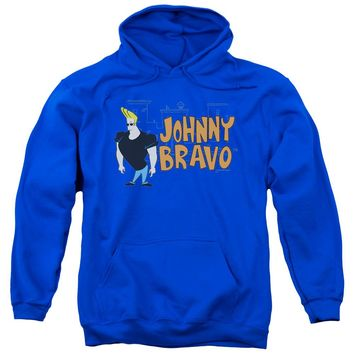 Johnny Bravo - Johnny Logo Adult Pull Over Hoodie