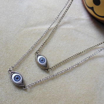 Evil Eye necklace - Evil Eye long necklace Two colors for choice