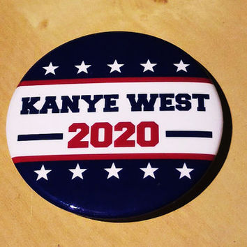 Presidential button - Kanye West  2020
