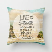 Live In The Sunshine - Photo Inspiration Throw Pillow by Misty Diller of Misty Michelle Design