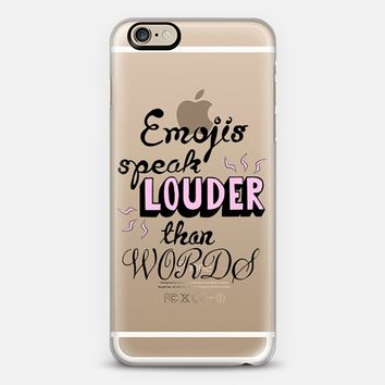 EMOJI QUOTE iPhone 6 case by Katie Reed | Casetify