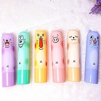Pauler Vickers Cute Animal Style Fashion winter lip care Natural lip Balm Lipstick Lip pen