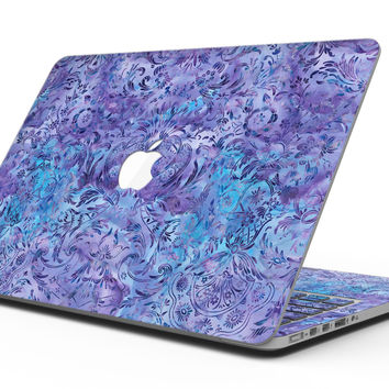 Purple Damask v2 Watercolor Pattern V2 - MacBook Pro with Retina Display Full-Coverage Skin Kit