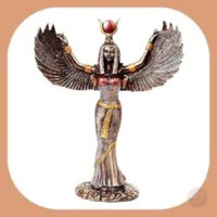 """""""Isis"""" Egyptian Goddess Open Wings Statue"""
