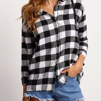Black & White Checked Flannel