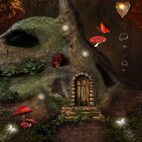Fantasy Scenery 10ft x 10ft Backdrop Computer Printed Photography Background YKY-203