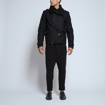 Pierre Balmain Moto Wool Jacket in Black