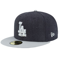"""Dodgers """"Heather Grey"""" Fitted Hat"""
