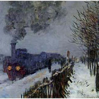 Claude Monet Train in the Snow Art Poster 11x17