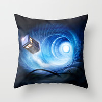 Doctor Who Throw Pillow by Joe Roberts