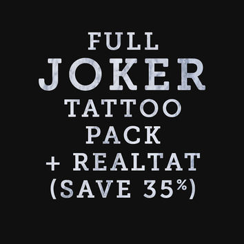 ALL Joker Jared Leto Temporary Tattoo Cosplay Costume Halloween Accurate Realistic Good Movie Film Makeup Tatoo Tatto Hand Drawn Damaged