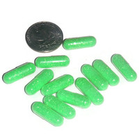 Neon green glitter caps, Alien poo, crafting supplies, party decor