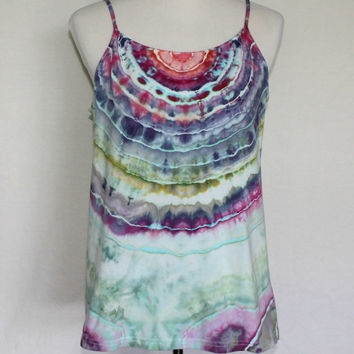 Plus Sized Tank Top, Tie Dye Tank Top, Plus Size Tie Dye Tank Top, Tye Dye, Activewear, Jewel Tone Shirt, Tie Dye Camisole, Gym Shirt
