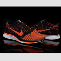 NIKE woven casual shoes light running shoes Black orange yellow