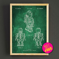 Lego Skeleton Patent Print Lego Figure Blueprint Poster House Wear Wall Art Decor Gift Linen Print - Buy 2 Get FREE -315s2g