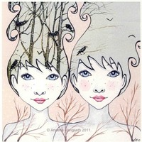 Twins  Print by carambatack on Etsy