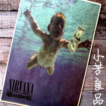 intage Punk Music Grunge Rock Nostalgic Retro Classic Posters Household adornment Home art decor Nirvana 42*30cm