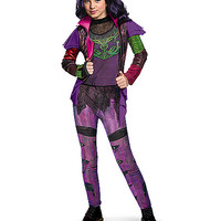 Kids Faux Leather-Trimmed Mal Costume Deluxe - Descendants - Spirithalloween.com