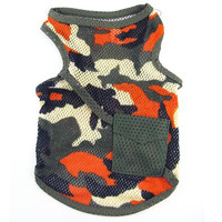 Camo Vest Dog Clothes-Size 8