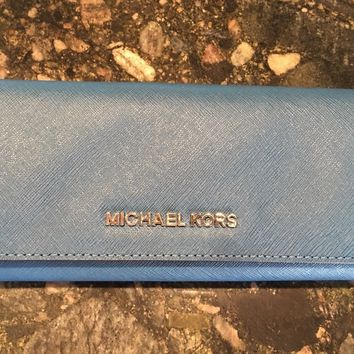 michael kors wallet Steel Blue Msrp&178 NWT