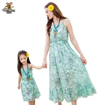 Mother Daughter Dress Matching Mother Daughter Clothes Family Clothing Fitted mae e filha Roupa Mae e Filha Vestidos Family Look