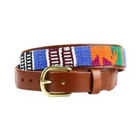 Guatemalan Leather Back Belt by Country Club Prep (Final Sale)