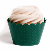 Cupcake Wrapper Forest Green 12pcs DMC1027