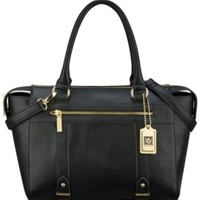 Anne Klein Military Luxe Medium Satchel | macys.com