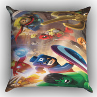 lego marvel super heroes wallpaper Y1229 Zippered Pillows  Covers 16x16, 18x18, 20x20 Inches