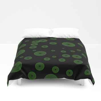 green circles Duvet Cover by netzauge