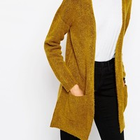 ASOS Cardigan In Edge to Edge Shape In Soft Yarn at asos.com