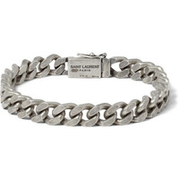 Saint Laurent - Burnished Sterling Silver Chain Bracelet | MR PORTER