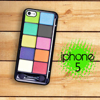 iPhone 5  Eye shadow Case / Hard Case For iPhone 5 Rainbow Eyeshadow Makeup. Plastic or Rubber Trim