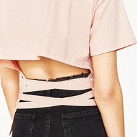 T - SHIRT WITH RIBBONS-NEW IN-WOMAN | ZARA United States