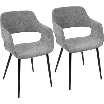 Margarite Mid-Century Modern Dining / Accent Chairs, Grey (Set of 2)