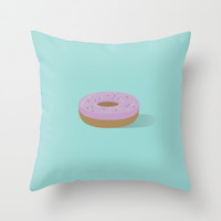 Donut Throw Pillow by brittcorry