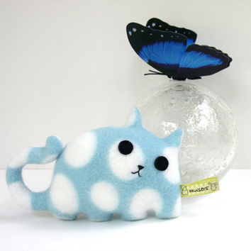 Kitty Blue, blue, white, spotted cat plush stuffed animal Muser Spring gift
