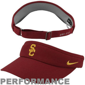 Nike USC Trojans Dri-FIT Adjustable Performance Visor - Cardinal