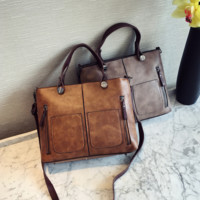 Vintage Leather Crossbody Shoulder Handbag