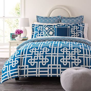 Happy Chic by Jonathan Adler Samantha 3-pc. Reversible Comforter Set (Blue)