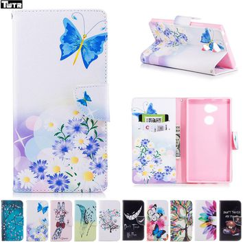 Flip for Sony Xperia XA2 Ultra XA 2Ultra H4213 H 4223 sM22 Case for Sony Xperia XA2Ultra  APAC H4223 SM22 Phone Leather Cover