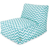 Teal Chevron Bean Bag Chair Lounger